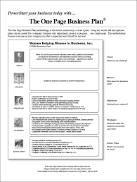 One Page Business Plan Template Word one page business plan template 14 free word pdf documents