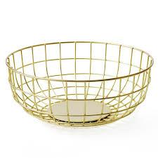 metal fruit basket menu norm wire fruit bowl brass metal wire grid basket