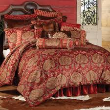 Black And Red Comforter Sets King Bedroom Luxury Pattern Bedding Design With Western Comforters