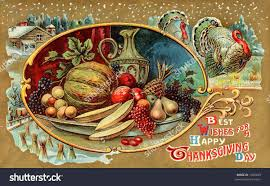 best wishes for a happy thanksgiving day ornate illustration wallpaper