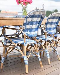 Navy Bistro Chairs Madeleine Armchair In French Blue Bistro Chairs Patio Dining