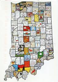 County Map Of Indiana Quilt Map Of Indiana Remembering Letters And Postcards