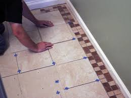 How To Install Glass Mosaic Tile Backsplash In Kitchen by How To Install Bathroom Floor Tile How Tos Diy