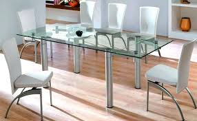 round glass top dining table canada glass top dining table set