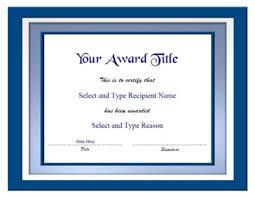 Blue Certificate Template blank certificate templates on blank certificate template horizontal