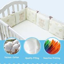 Bed Protector Infant Crib Bumper Bed Protector Baby Kids Cotton Cot Nursery
