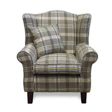 Beige Wingback Chair Furniture Neyland Sky Tartan Fabric Wingback Chairs With Target