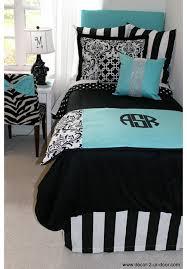 Tiffany Blue Comforter Sets Tiffany Blue U0026 Black Damask Designer Dorm Bedding Set Tiffany