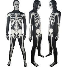 darko skeleton skull costume morphsuit halloween costume fancy
