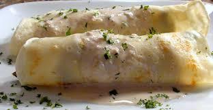chicken and asparagus crepes with mushrooom cream sauce lyndsay