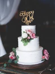 happy 50th birthday cake topper 50 years anniversary cake