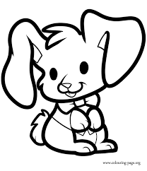 Rabbits And Bunnies A Lovely Rabbit Sitting Coloring Page Rabbit Colouring Page