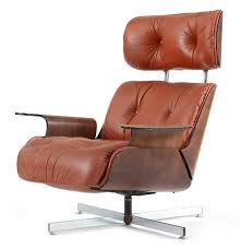 Vintage Recliner Chair Vintage Eames Style Walnut And Leather Recliner Chair Ebth