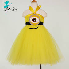 Baby Minion Costume Aliexpress Com Buy New Children Minion Princess Tutu Dress Baby
