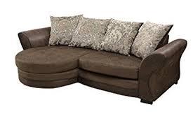 Scatter Back Cushions Bolero Corner Sofa Chenille Fabric Brown Or Black Grey Scatter