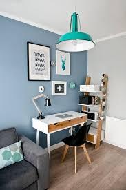 coin bureau dco salon coin bureau avec un mur bleu listspirit deco mur bureau