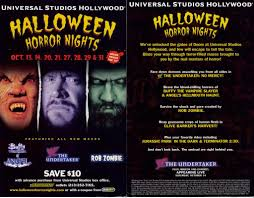 vip halloween horror nights park memorabilia 2000 halloween horror nights hollywood 1997