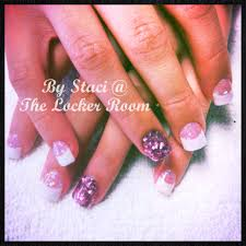 pink glitter and white acrylic nails nail designs pinterest