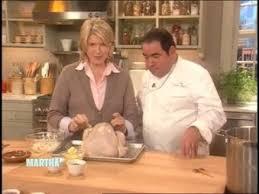 martha stewart cider brine turkey w chef emeril lagasse