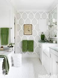 create a bathroom accent wall bathroom green bathroom wallpaper