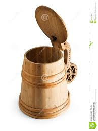 authentic wooden rustic beer mug tankard stock photography image