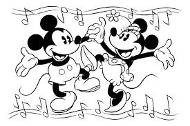 mickey minnie mouse coloring pages color