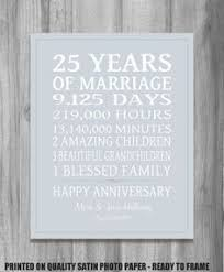 twenty fifth anniversary 25th wedding anniversary gift paper canvas twenty fifth 10 year