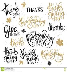 vector set of lettering thanksgiving day quotes happy