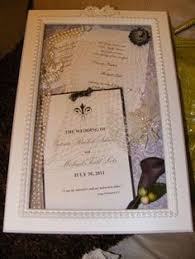 wedding wishes keepsake shadow box our wedding invitation program and menu box frame lovely way
