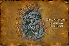 map quests deadwind pass map with locations npcs and quests of warcraft