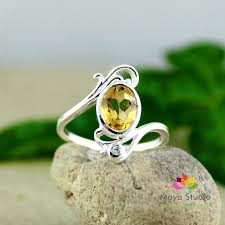 womens ring size citrine ring gemstone ring all ring size gift for