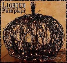 how to lighted grapevine pumpkin make