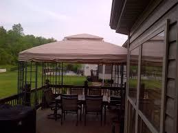 12x12 Patio Gazebo by Sears Kmart Bay Window Gazebo Replacement Canopy Velcro Garden Winds