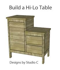 build a hi lo end table u2013 designs by studio c