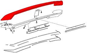 nissan 350z nismo spoiler oem 350z nismo v3 rear spoiler repair component upper section