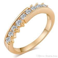 classic rings images Simple design classic ring for women wedding jewelry 18k yellow jpg