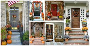 front door flower pots that will draw all of the attention this fall