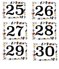 free printable halloween numbered labels plus blanks