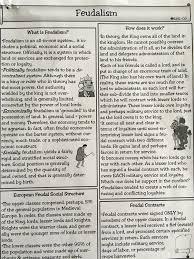 feudalism worksheet worksheets