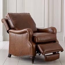 brown leather recliner oxford bassett furniture