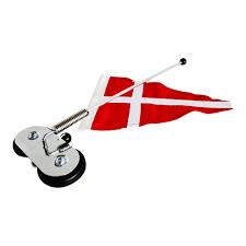 Dansk Flag Eksklusiv Bilvimpel I Orginal Flagdug Køb Bilflag Hos Langkilde