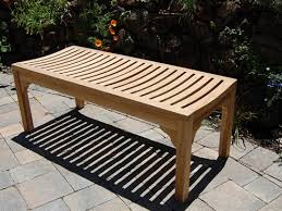 backless bench outdoor benches archives paradise teak