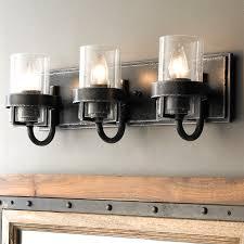 Rustic Bathroom Lighting - industrial rustic farmhouse bath lighting shades of light inside
