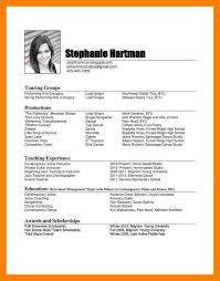 Musical Theater Resume Template 8 Music Industry Resume Mla Cover Page