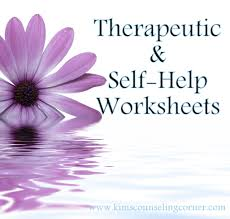 therapy and self help worksheets kim u0027s counseling corner