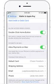 manage the cards that you use with apple pay apple support