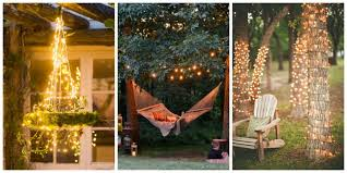 Hanging String Lights by 18 Backyard Lighting Ideas How To Hang Outdoor String Lights