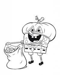 print halloween coloring pages spongebob or download halloween