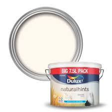 dulux natural hints jasmine white matt emulsion paint 7 5l