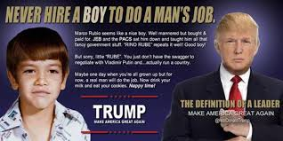 Rubio Meme - donald trump the anti conservative goes alinsky on marco rubio